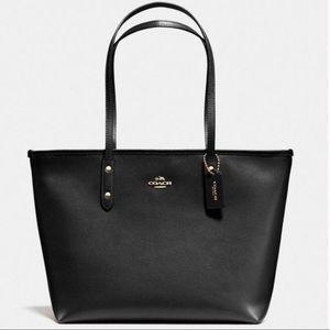 Coach NWT Black Zip Tote Bag